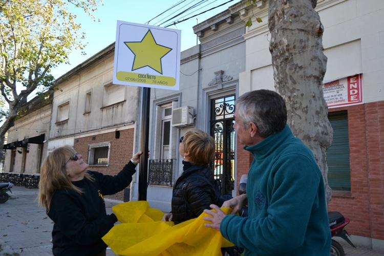 Descubrieron una Estrella Amarilla en homenaje Coca Nieto