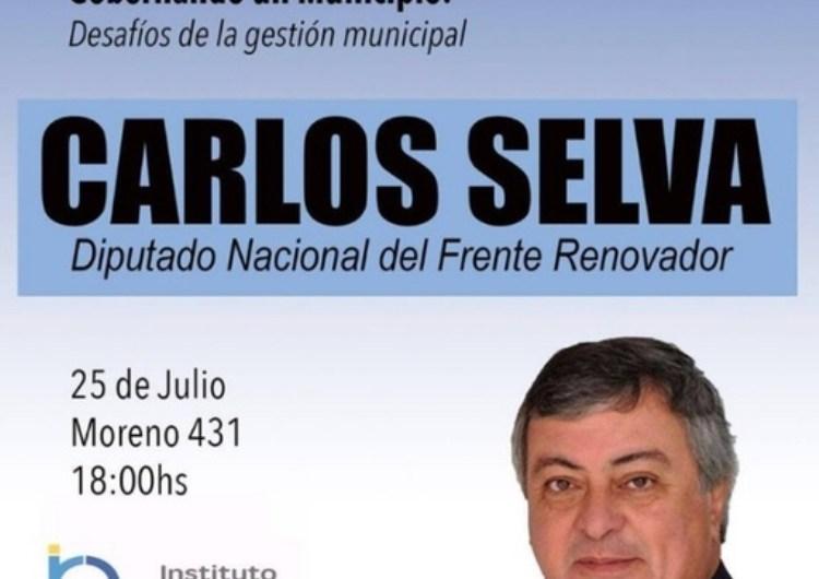 """El diputado Carlos Selva dará una charla sobre """"Desafíos de la gestión municipal"""""""