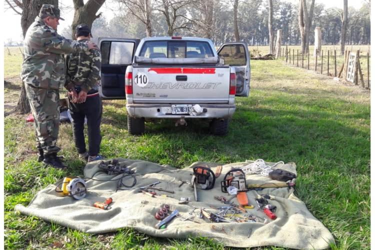 Detenciones en zona rural por robo de ganado