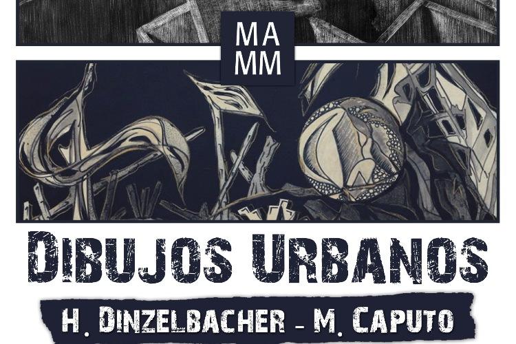 Mónica Caputo y Hugo Dinzelbacher exponen dibujos urbanos