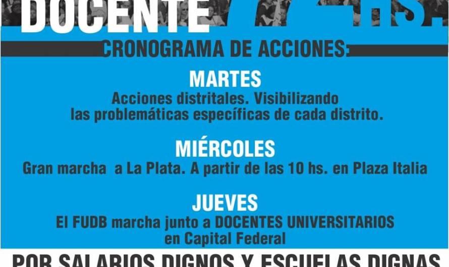 Docentes Bonaerenses cumplen 72 horas de paro