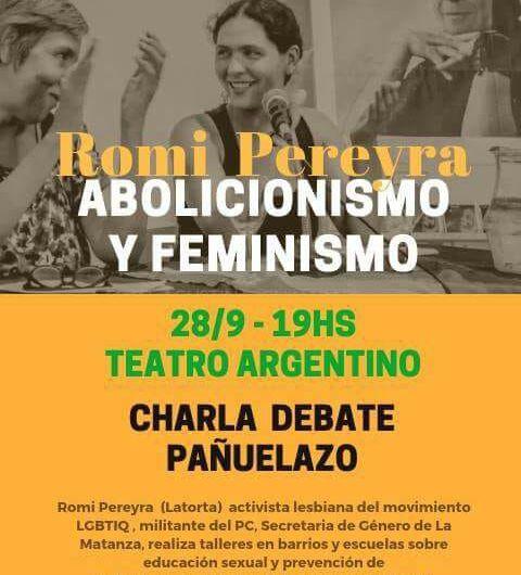 Abolicionismo y Feminismo este viernes en el teatro municipal