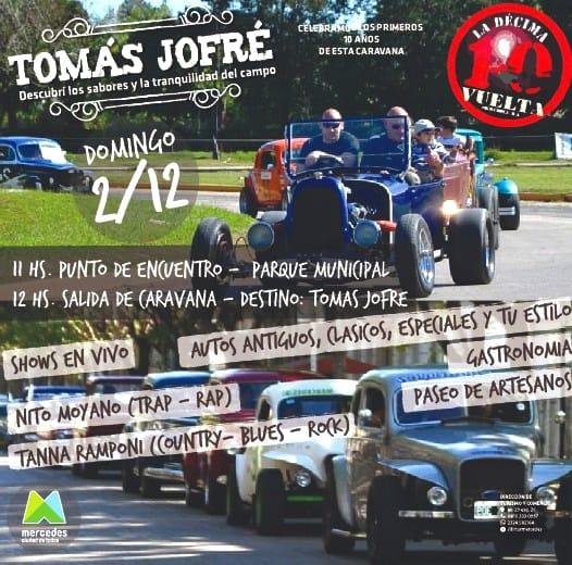 Cambio del recorrido de la Caravana «10ma Vuelta a la Ciudad de Mercedes»