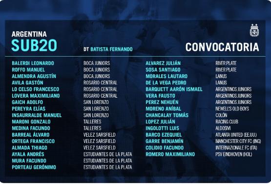 Santiago Sosa convocado a la pre Selección Sub 20
