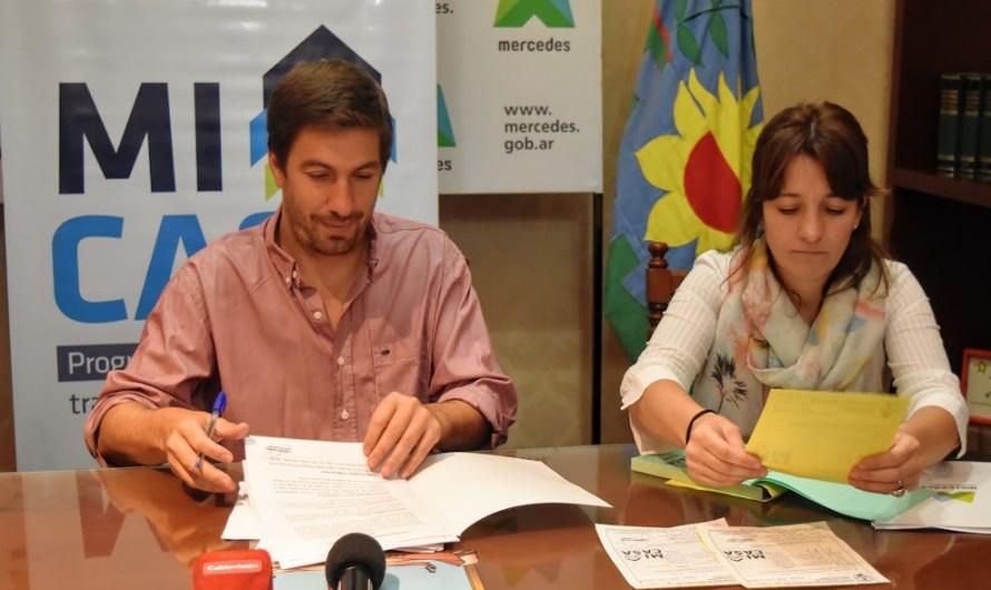 Ustarroz anunció 27 casas para los beneficiarios de Mi terreno