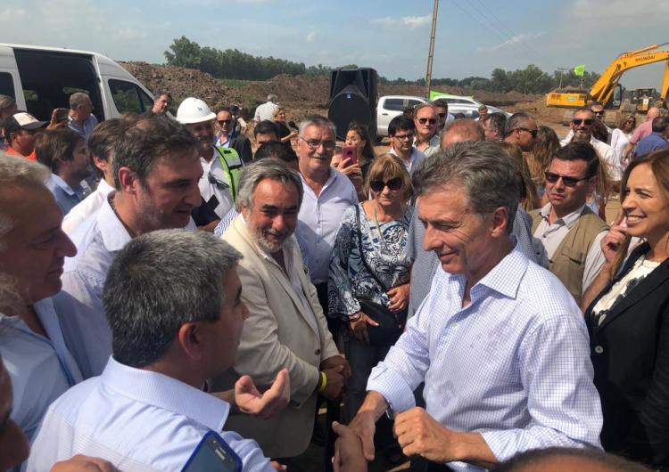 El Intendente Interino Garro presente en el acto de Macri en Suipacha