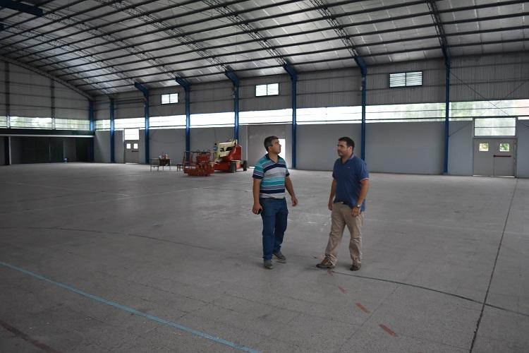Está casi terminado el nuevo gimnasio del CEF 40