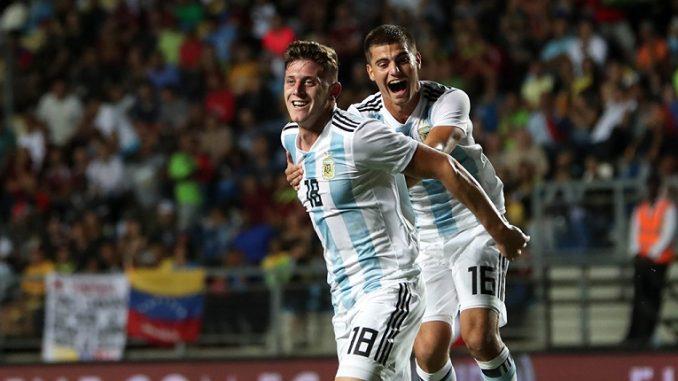 Buena actuación de Santiago Sosa en la goleada de Argentina ante Venezuela