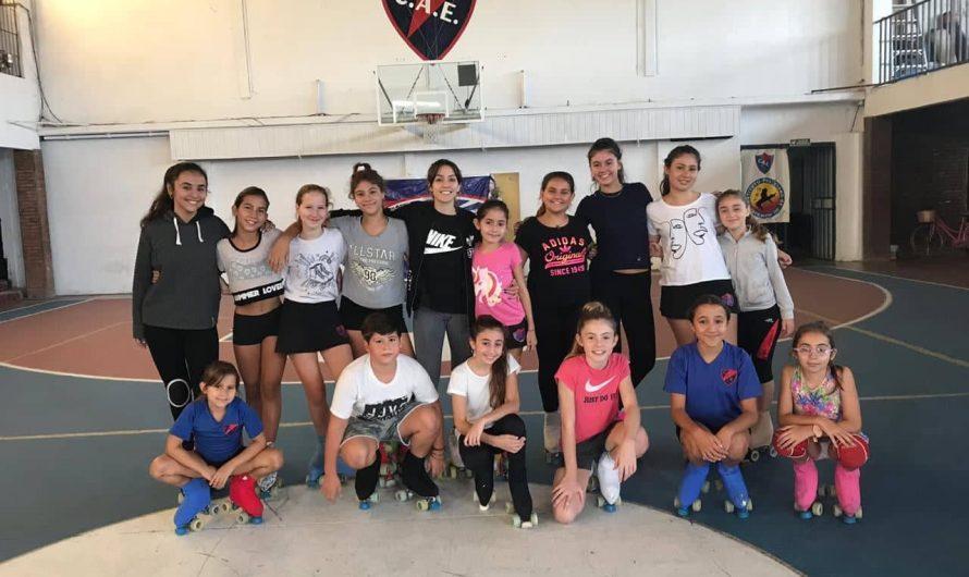 La mundialista Micaela Magliocco dio una capacitación a las patinadoras de Estudiantes