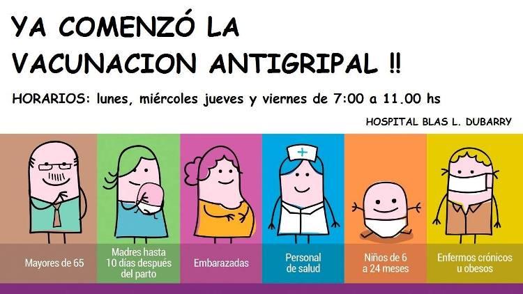 Vacunación antigripal en el Hospital Dubarry