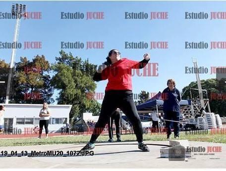 Débora Martinelli, tercera en Lanzamiento de Bala en el CENARD