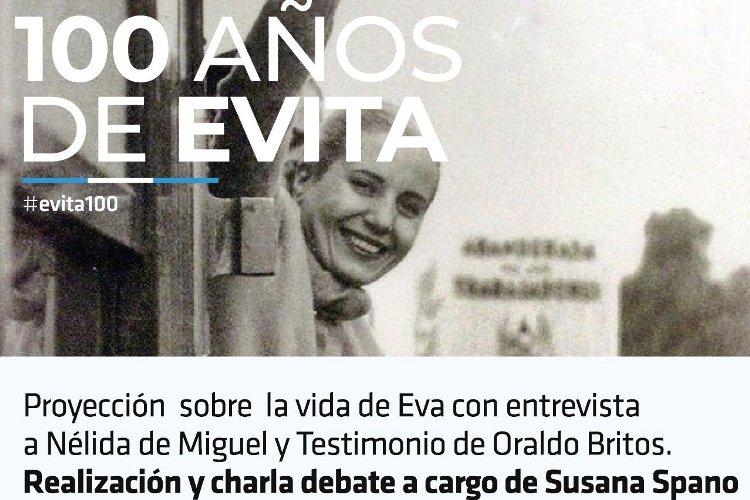 Proyectarán documental sobre Eva Perón