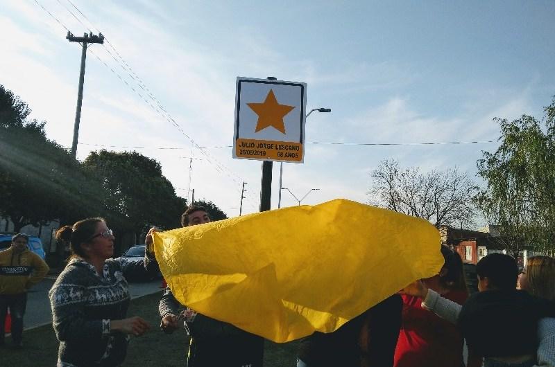 Colocaron Estrella Amarilla por Jorge Lescano