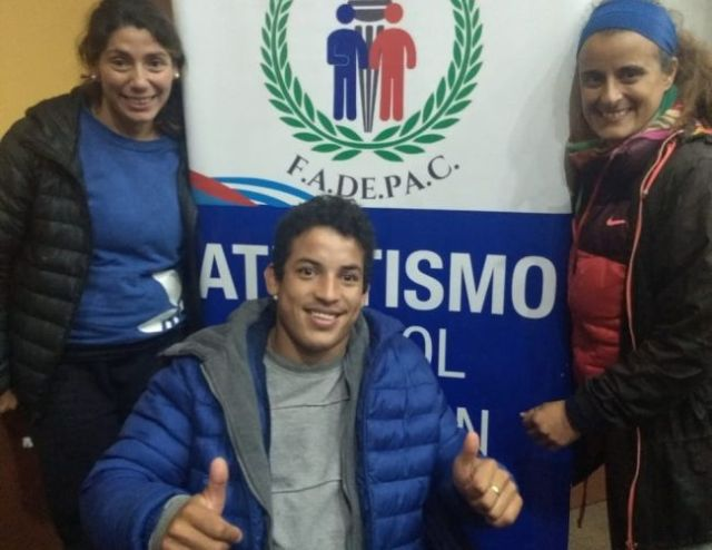 Romina Fernández y Luis Echaire entrenaron con la Selección Argentina de Atletismo PC