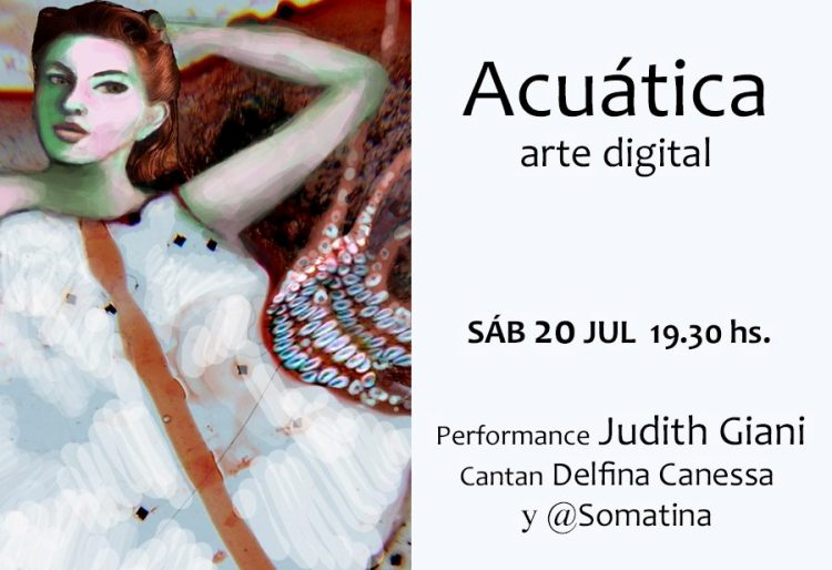 Judith Giani inaugura muestra de arte digital