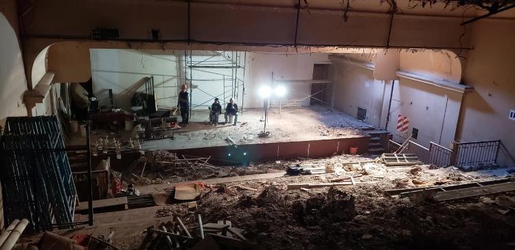 Avanzan las obras en la sala de planta alta del teatro municipal