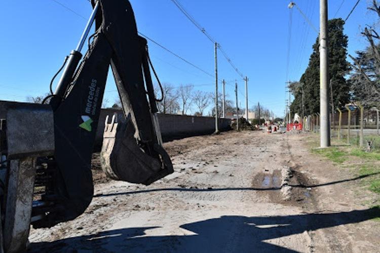 Obras de drenaje en el Barrio Seminario