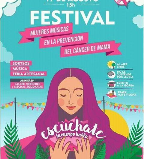 Llevarán adelante Festival en campaña de prevención del Cáncer de Mama