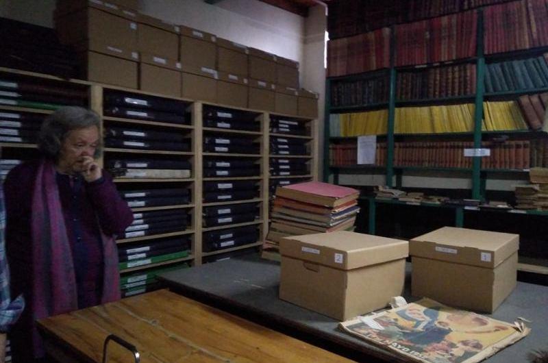 Ponen en valor patrimonial la Hemeroteca de la Biblioteca Sarmiento