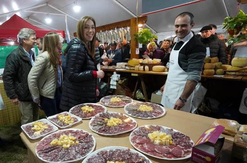 Vidal recorrió la Fiesta del Salame Quintero