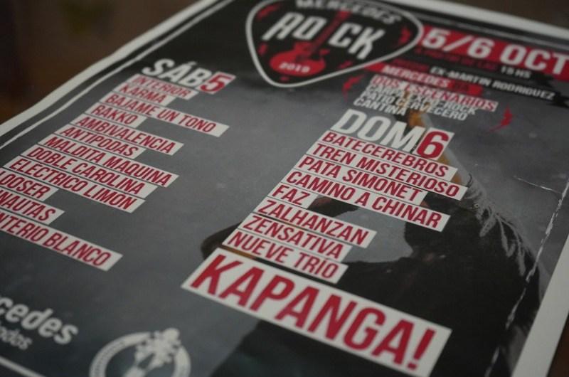 Mercedes Rock con bandas locales y Kapanga de cierre