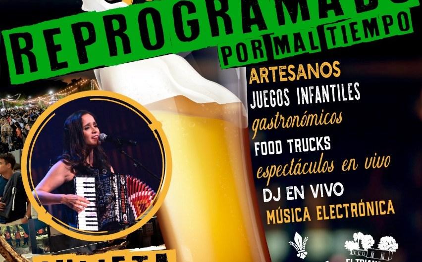 Por cuestiones climáticas se posterga el Festival Cervecero