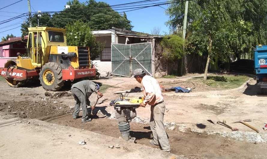 Municipio avanza con obras pluviales en barrio La Amistad