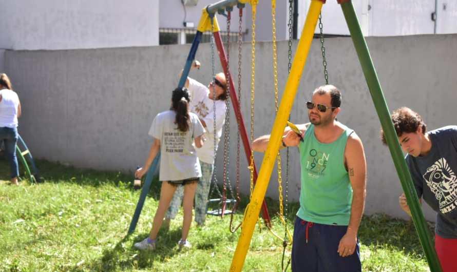 Jornada solidaria en Jardín N°907 permite mejorar sus instalaciones