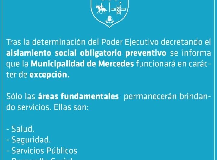 Coronavirus: Municipio cumplirá funciones de emergencia y excepción