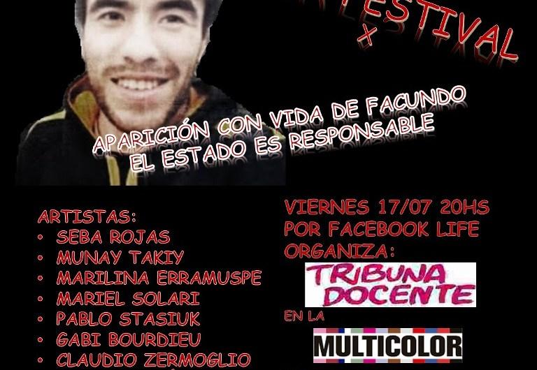 Acto Festival por redes por la aparición de Facundo Astudillo Castro