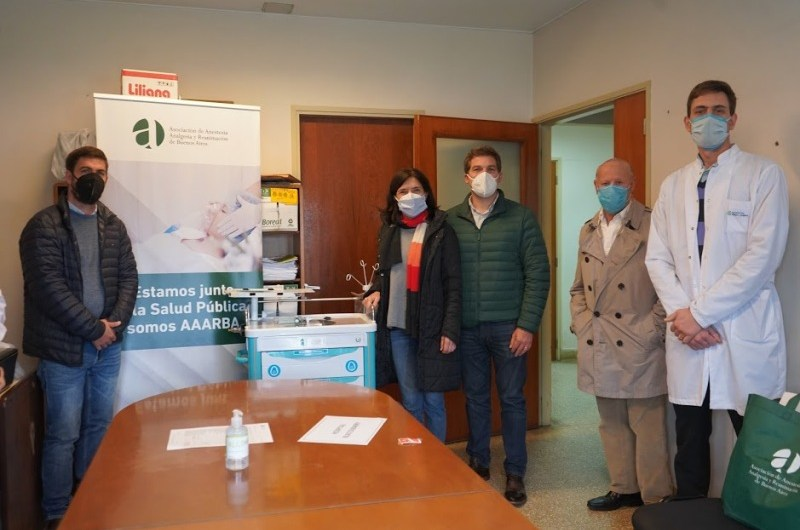 Hospital Dubarry recibió equipamiento de anestesiología