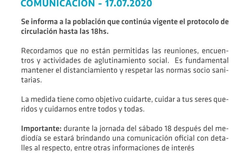 Municipio anunció la continuidad de restricción horaria