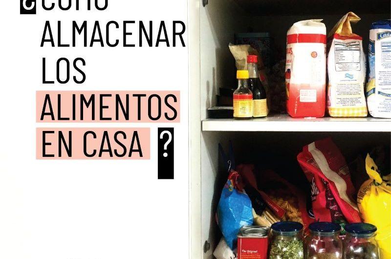 Cómo almacenar alimentos en casa para la prevención de enfermedades