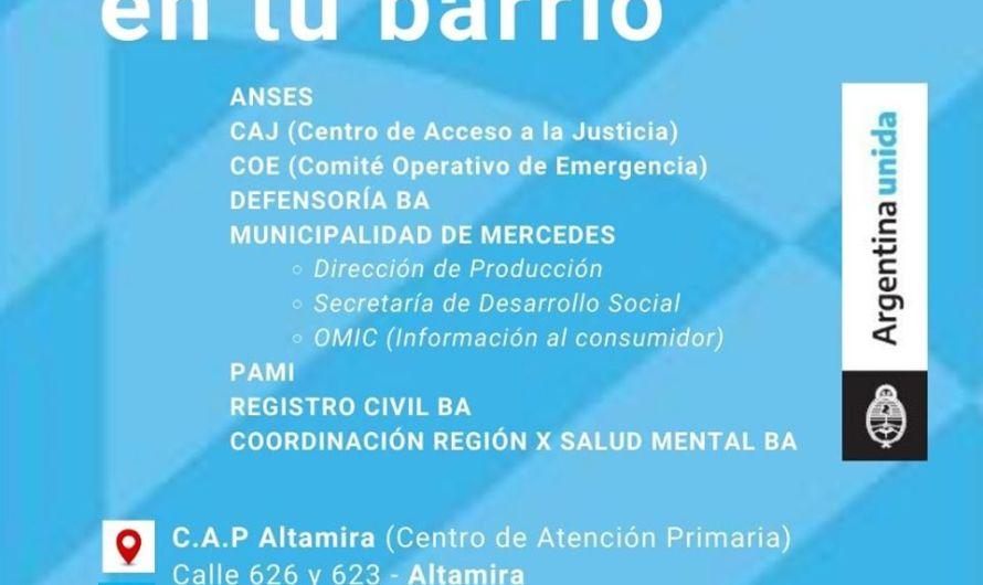 El Estado en Tu Barrio estará en Altamira