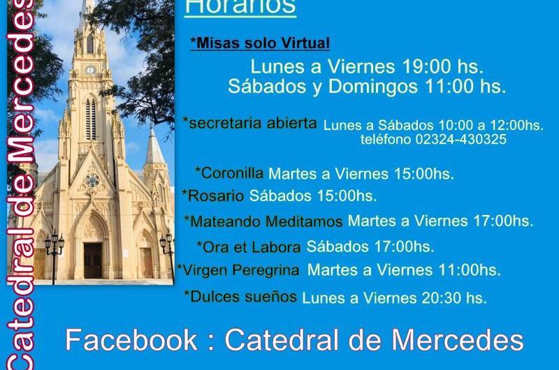 Días y horarios de apertura y ceremonias de Catedral