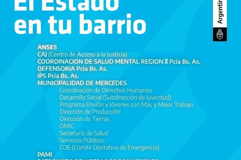 Estado en tu barrio: el viernes 18 estarán en Calvillo, Eva Duarte y Los Robles