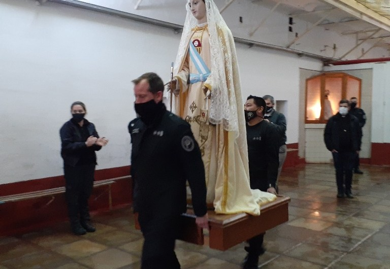 Virgen de la Merced en la cárcel local