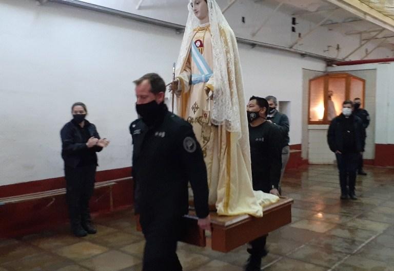 Virgen de la Merced en la cárcel local