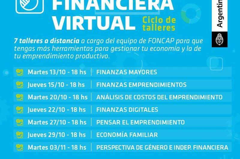 FONCAP ofrece talleres virtuales en educación financiera