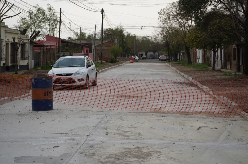 Avanza la obra en el barrio La Amistad