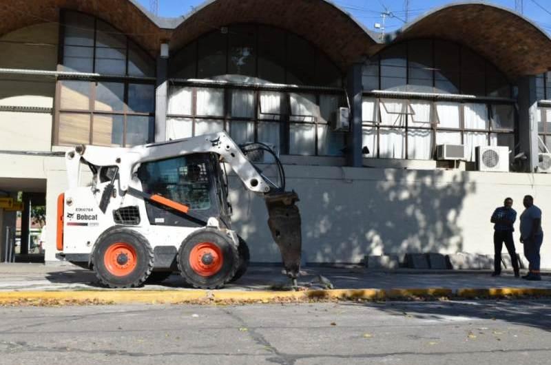 Obras de mejoras en la Terminal de Ómnibus