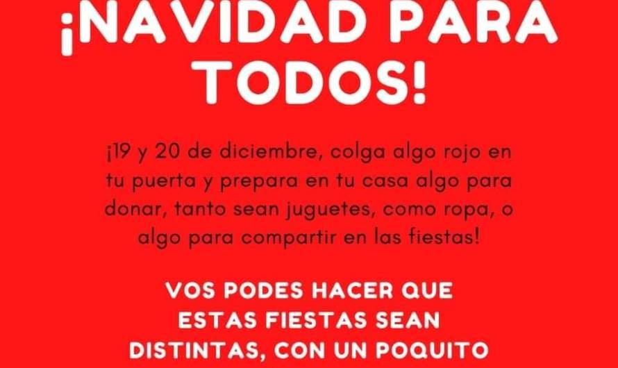 Campaña solidaria: Reciben donaciones para entregar en las fiestas