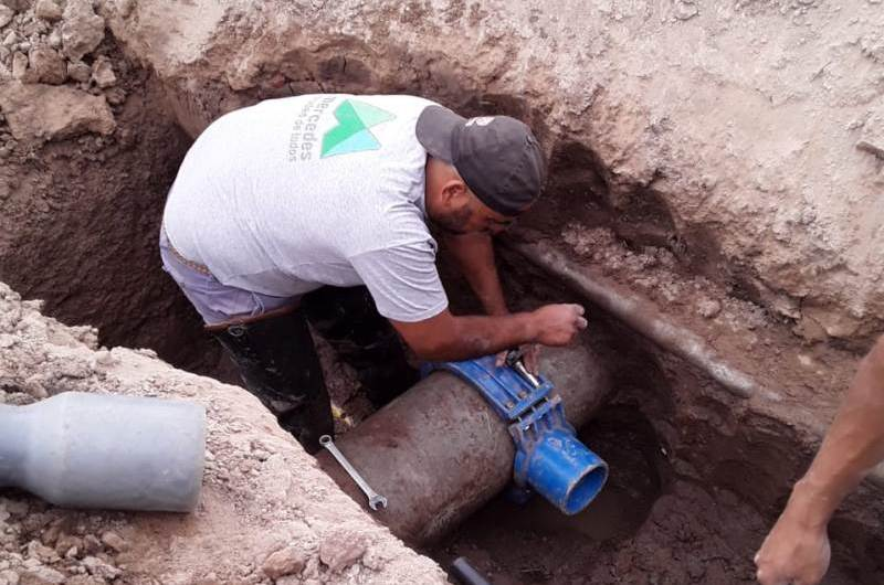 Finalizó la obra de mejora en la red de agua corriente