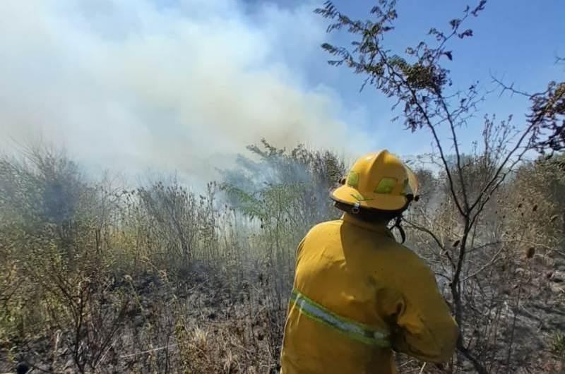 Incendio en un monte de 136 y 47