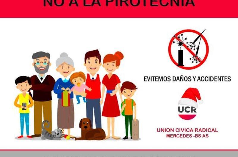 La UCR se suma a la campaña contra la pirotecnia sonora