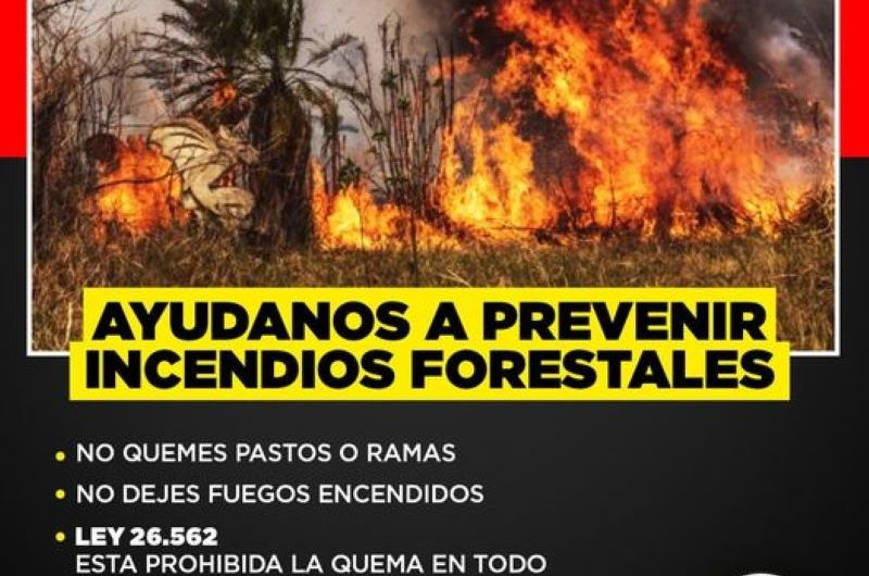 Bomberos: «Ayudanos a evitar incendios forestales»