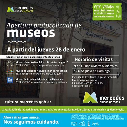 Este jueves 28 reabrieron los Museos en Mercedes