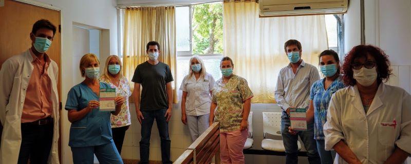 De Pedro y Ustarroz agradecieron al personal de salud que trabaja en la campaña de vacunación contra el Covid-19