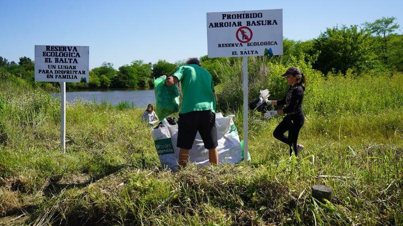 Nuevamente arrojan basura en la Reserva Arroyo Balta