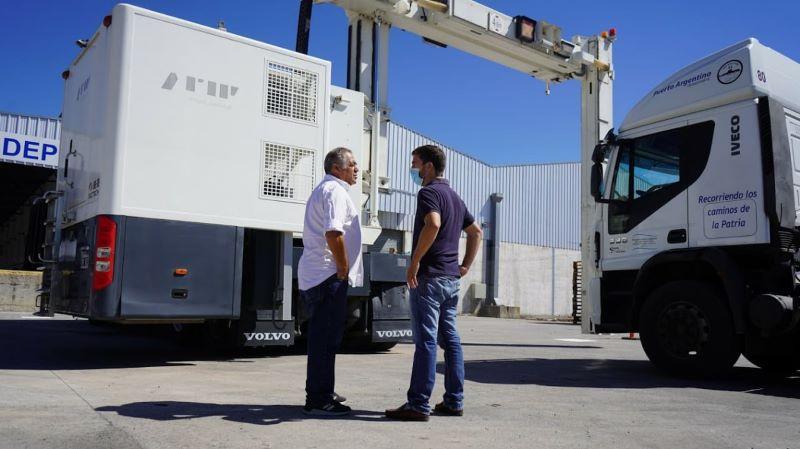 El Parque Loguístico de Mercedes incorpora un scanner para camiones